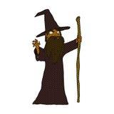 волшебник шуточного шаржа пугающий Стоковое фото RF