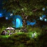 Волшебное дерево с накаляя плодоовощами бесплатная иллюстрация