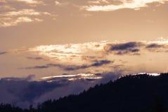 Волшебное небо захода солнца Стоковая Фотография