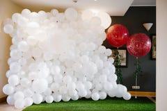 Волшебное оформление baloons для свадебной церемонии Стоковые Фотографии RF