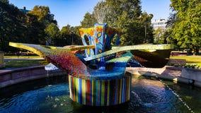 Волшебное colorfull фонтана Стоковые Изображения