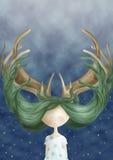 Волшебные волосы Иллюстрация вектора