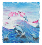 Волшебные дельфины перескакивать (2000) иллюстрация штока