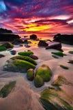 Волшебные облака захода солнца Стоковые Фото