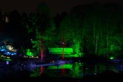 Волшебные света в парке Gruga, Германии Стоковые Изображения