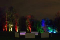 Волшебные света в парке Gruga, Германии Стоковое фото RF