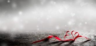 Волшебные сердца ленты Стоковое Изображение RF