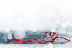 Волшебные сердца ленты Стоковые Изображения RF