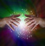 Волшебные Sparkles радуги стоковые изображения