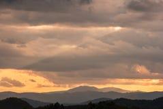 Волшебный ландшафт утра Стоковое Изображение RF