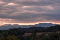 Волшебный ландшафт утра Стоковое Фото