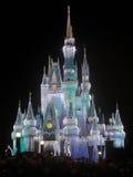 Волшебный замок королевства на рождестве Стоковое фото RF