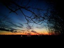 волшебный заход солнца Стоковые Фотографии RF