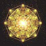 Волшебный знак геометрии Абстрактная священная геометрия иллюстрация вектора