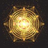 Волшебный знак геометрии Абстрактная священная геометрия бесплатная иллюстрация