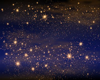 Волшебный космос Fairy безграничность пыли абстрактная вселенный предпосылки Голубое Gog и сияющие звезды также вектор иллюстраци бесплатная иллюстрация