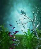 Волшебный сад лета иллюстрация штока