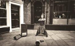 Волшебный совершитель шарика в улице Йорка, Англии Стоковые Фото