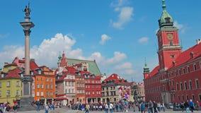 волшебный старый прошлый городок warsaw улиц Польши стоковое фото rf