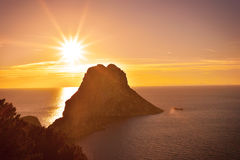 Волшебный утес Ibiza Стоковые Изображения RF