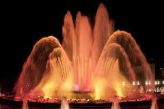 Волшебный фонтан в Барселоне на ноче Стоковое Фото