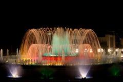Волшебный фонтан к ноча в Барселоне Стоковые Фотографии RF