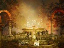 Волшебный фонтан Стоковое Изображение RF