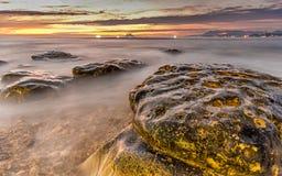Волшебный час в побережье Стоковые Фотографии RF