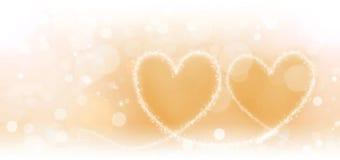 2 волшебных сердца Стоковые Фото