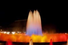 волшебство фонтана barcelona Стоковая Фотография RF