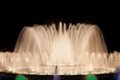 волшебство фонтана barcelona Стоковое фото RF