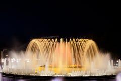 волшебство фонтана barcelona Стоковое Фото