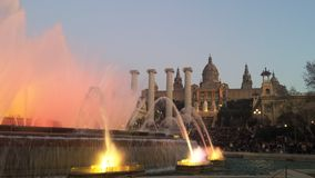 волшебство фонтана montjuic Стоковые Изображения RF