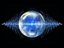 Волшебство частицы волны иллюстрация вектора