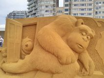 Волшебство Ostende песка Дисней стоковые изображения