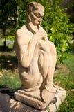 Волынщик статуи сада стоковое изображение rf