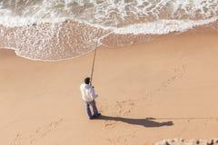 Воды пляжа рыболова Стоковое Изображение