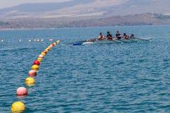 Воды Bouys майны Fours команды регаты Стоковое Изображение RF