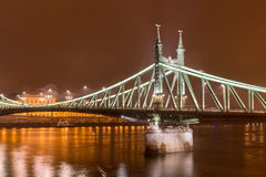 вольность budapest Венгрии моста стоковое фото