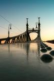 вольность budapest Венгрии моста стоковая фотография