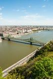 вольность budapest моста стоковые фото
