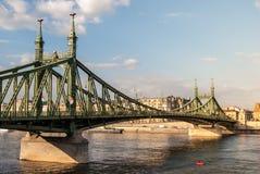 вольность budapest моста стоковое изображение rf