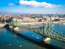 вольность budapest моста стоковое фото rf