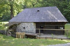 Водяная мельница в музее Стоковое Фото