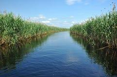 Водяной канал в перепаде Дуная Стоковые Фото