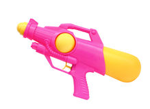 Водяной пистолет изолированный на белой предпосылке, (путь клиппирования) Стоковые Изображения RF