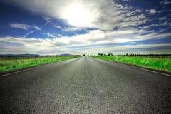 вперед дорога Стоковое фото RF