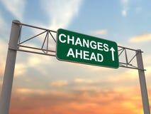 вперед знак скоростного шоссе изменений Стоковые Изображения