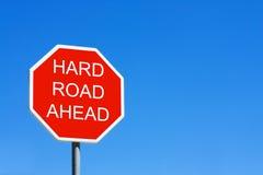 вперед трудная дорога Стоковое Изображение
