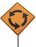 вперед улица знака круга Стоковые Фотографии RF